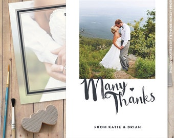 Thank You Cards Wedding, Thank You Postcard - Many Thanks