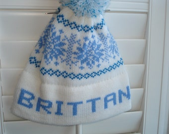 Personalized knit hat - Brittany
