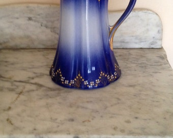 Rare Antique Luneville Faience Pitche