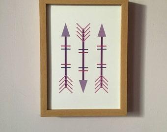 Purple Arrows Art Print