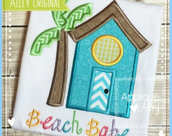 Personalized Beach Shack Applique Shirt or Bodysuit Boy or Girl