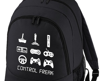 CONTROL FREAK- Arcade console Gamer Addict- Graphic Backpack BPK1035