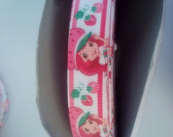 strawberry shortcake inspired ribbon 7/8 size