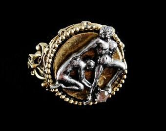 ART Gemini Zodiac Adjustable Ring