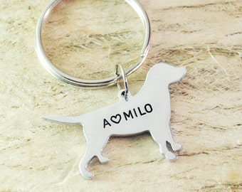 Labrador retriever  Dog Keychain Pet  Memorial Gift Pet Lovers Gift dog key chain dog charm dog pendant pet keychain 925 sterling silver
