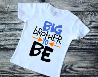 Big brother to be, pregnancy announcement shirt, big brother shirt, photo shoot shirt, big brother again shirt, kids vinyl shirt
