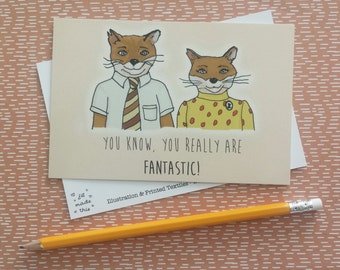 Fantastic Mr Fox Postcard