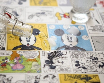 Laminated Disney Mickey Mouse printed Fabric made in Korea by the Yard