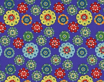 Dan Bennett PWDB044 Mulberry Cocoon Azure Cotton Fabric By The Yard