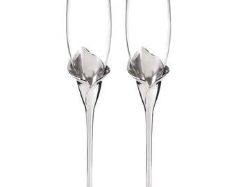 Calla Lily - Wedding Flutes