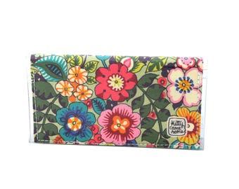 Mini Bi-fold Clutch - Flower show