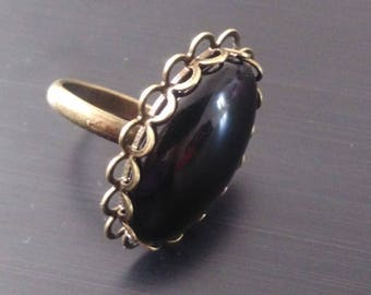 Black and bronze Adjustable ring