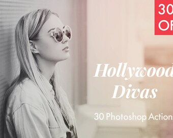 30% OFF! Hollywood Divas - 30 Photoshop Actions INSTANT DOWNLOAD