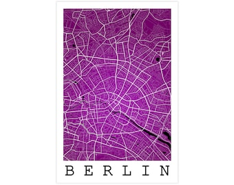 Berlin Street Map, Berlin Germany, Modern Art Print, Berlin Map, Berlin Gift, Berlin Decor, Berlin Art, Berlin Poster, Berlin Wall Art