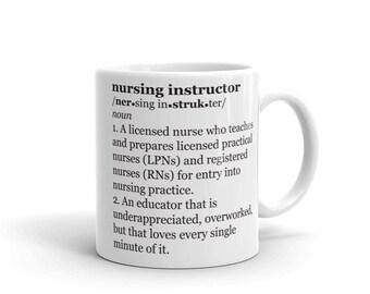 Nurse Instructor Gift, Preceptor Gift, Nursing Instructor, Clinical Instructor, Nurse Gift, Nursing School Gift, Nurse Coffee Mug