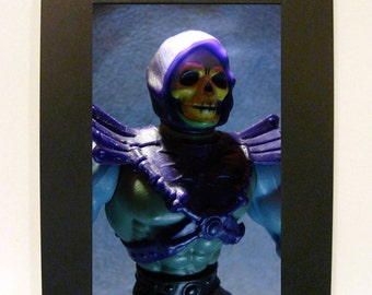 "Framed Skeletor Toy Photograph 5x7"" He-Man Masters of the Universe"
