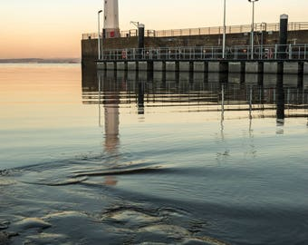 Dawn at Newhaven Lighthouse, Edinburgh, available in various sizes