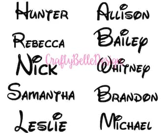 Disney Name Decal | Disney Font Name Decal | Any Name Disney Decal | Walt Disney Font Name Decal | Disney Decal | Car Decal | Yeti Decal