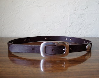 Womens Justin Western Brown Leather Belt 30
