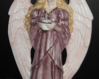 Large Christmas Angel Holding a Candle