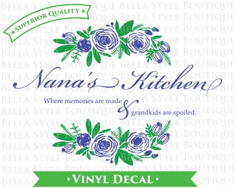 Nana's Kitchen TWO color VINYL DECAL