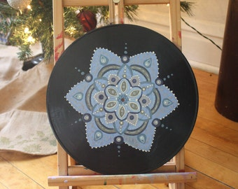 Blue Mandala Record Painting