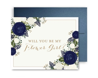 Will You Be My Bridesmaid Card Bridesmaid Cards Ask Bridesmaid Bridesmaid Maid of Honor Gift Matron of Honor Flower Girl #CL306