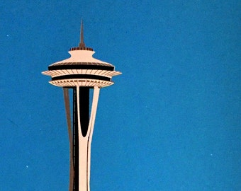 Seattle Space Needle screenprint