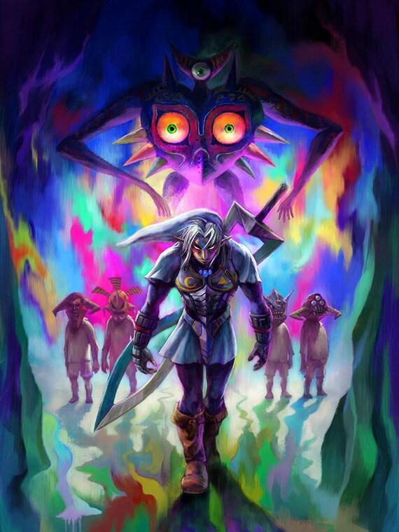 The Legend of Zelda: máscara feroz Deidad enlace cartel de