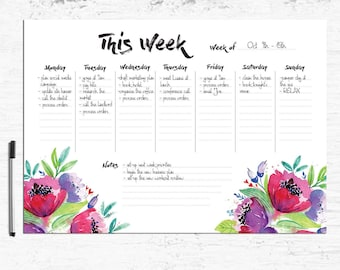 Weekly Planner Printable A4/ A5/ Letter size, Weekly Desk Planner, Printable Planner Inserts, Weekly Schedule, Weekly Agenda