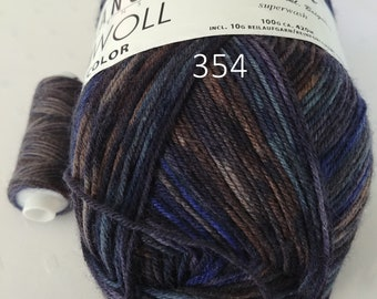 Lang Yarns Jawoll Color 3.5 oz / 4 ply incl. 0.4 oz. Reinforcing thread