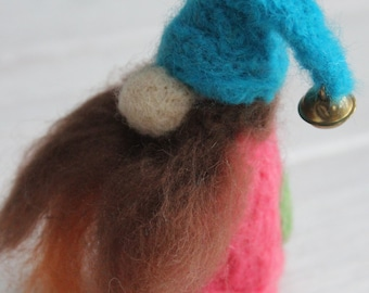 Bez the needle felted gnome