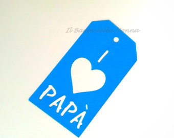 "Set 4 tags gift tags placeholder ""father's day"" (article 73)"