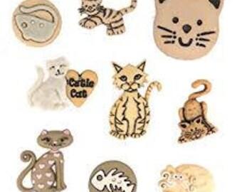 Dress It Up - Feline Fancy Buttons