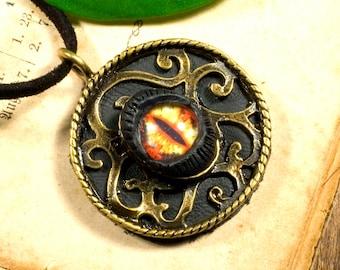 Pendant, steampunk, eye, trophy