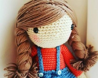 School Girl - crochet doll