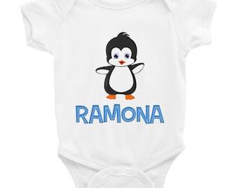Ramona Penguin Infant Bodysuit