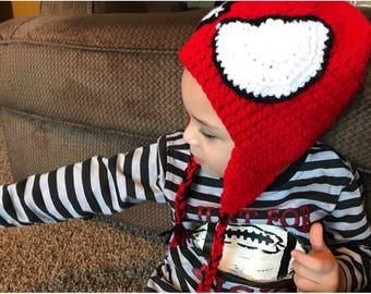 Spiderman crochet hat