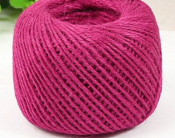 Hot Pink Jute Twine-2mm-5 YDS or 10 YDS  #JT015