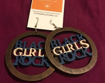 Black Girls Rock -blue & white