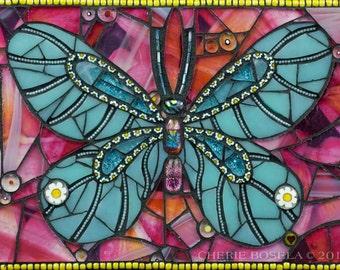 Moana - Butterfly mosaic PRINT 11x14