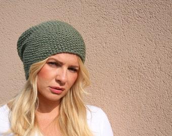 Knit Slouchy Beanie Hat / Women's Slouchy Hat / Women's Winter Hat / Slouch Hat / Slouch Beanie / Fall Fashion / Street Fashion