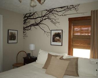 Large Wall Tree Nursery Decal Oak Branches Wall Art 1130 (9 feet wide)