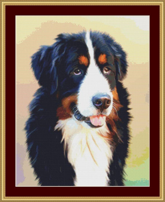 Bernese Mountain Dog Cross Stitch Pattern /Digital PDF Files /Instant downloadable