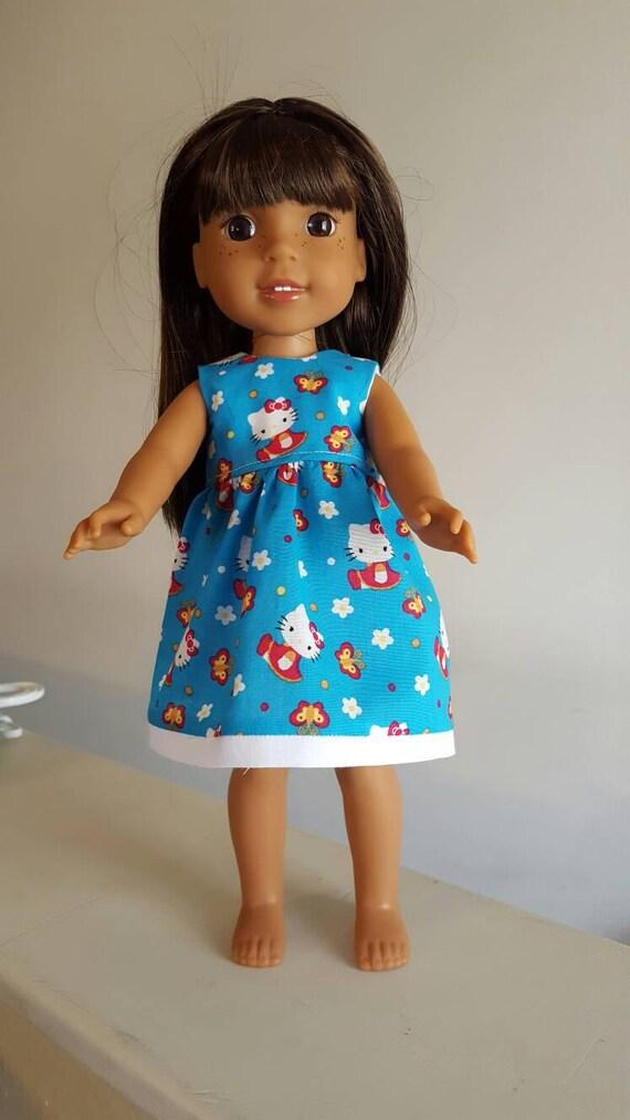 Wellie Wishers Doll Hello Kitty Dress