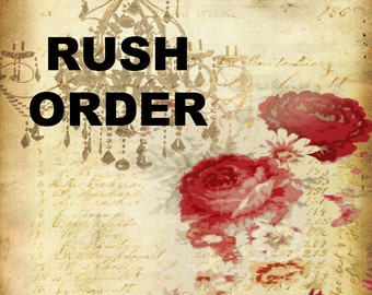 Rush Order Fee--Make Sure to Read Before Ordering