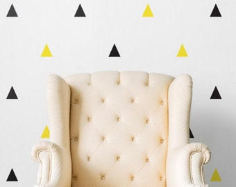 Triangles Duo | Patterns Shapes Kids Nursery Decor | Removable Wall Decal Sticker | MS140VC