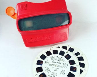 Vintage Red Viewmaster and Duck Tales reels