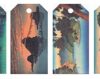 12 Shipping (Gift) Tags Hasui Landscapes028