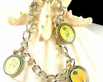 Bonnie Bonnet Charm Bracelet Vintage Sue Bonnet Charms Vintage Bracelet Girl In A Bonnet Charms 7 Inch Bracelet